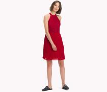 Neckholder-Kleid mit Blumenapplikationen