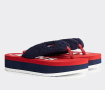 Color Block Flatform-Sandale