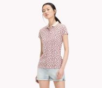 Poloshirt mit Blätter-Print