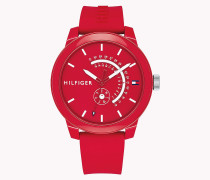 Statement Armbanduhr mit Silikonband