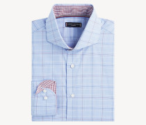 Karo-Hemd mit weit gespreiztem Kragen