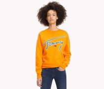 Signature-Sweatshirt mit Rundhalsausschnitt