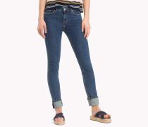 Skinny Fit Jeans aus Denim