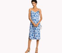 Midi-Kleid mit V-Kragen