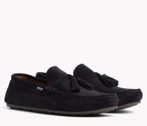 Wildleder-Loafer mit Quasten