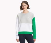 Athleisure-Sweatshirt mit Ärmeln in Kontrastfarben