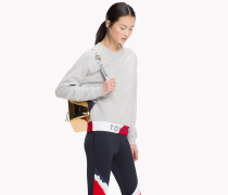 Pullover mit Logo in Blockfarben