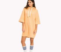 Hoodie-Kleid aus reiner Baumwolle