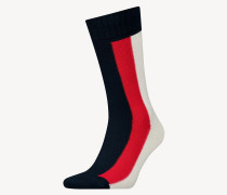Farbblock-Socken aus Stretch-Baumwolle