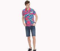 Poloshirt mit tropischem Muster