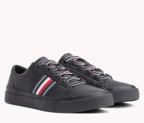Leder-Sneaker mit Branding