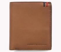 Dreifach-Brieftasche aus poliertem Leder
