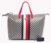 Reisetasche mit Schachbrettmuster