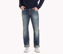 Straight Cut Jeans im Used Look