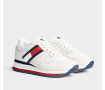 Flatform-Sneaker mit Flag