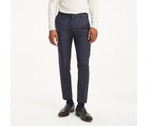 Slim Fit Hose aus reiner Schurwolle
