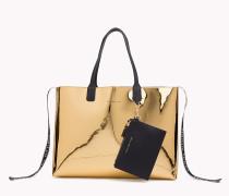 Iconic Metallic Tote-Bag
