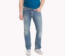 Slim Fit Jeans mit Fade-Effekten