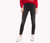 Stretch-Jeans mit hoher Leibhöhe