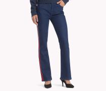Bootcut Jeans mit seitlichem Streifen