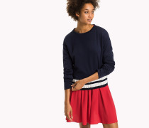 Sweatshirt mit gestreiftem Saum
