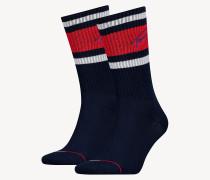 Socken mit aufgesticktem Logo