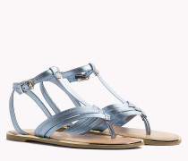 T-Bar-Sandale in Metallic