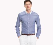 Hemd aus gewaschener Baumwolle in Slim Fit