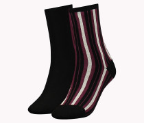 TH WOMEN VERTICAL STRIPE SOCK 2P