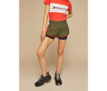 2-in-1 Farbblock-Shorts