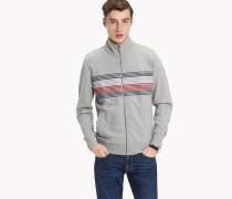 Gestreifter Sweater mit Reißverschluss