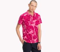 Gemustertes Slim Fit Poloshirt