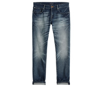 "Jeans ""Tye-Blauw Comes Next"" Slim Carrot Fit"