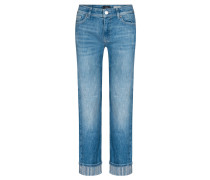 "Jeans ""Hailey Stripe"" Straight Fit verkürzt"