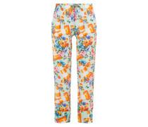 Print-Pants aus Baumwolle und Seide