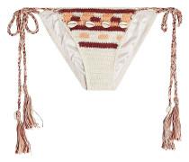 Bikini-Höschen aus Häkelstrick mit Verzierungen