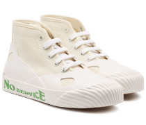 Bedruckte High Top Sneakers aus Canvas