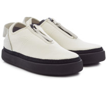 Sneakers Comfort Zip aus Stoff und Leder