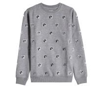 Besticktes oversized Sweatshirt mit Baumwolle