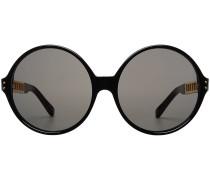 Sonnenbrille mit vergoldeten Details
