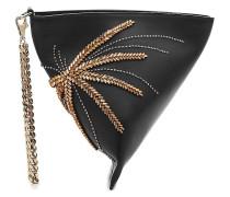 Verzierte Handtasche Cosmo Palms Stone aus Kalbsleder