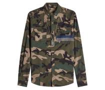 Camouflage-Hemd aus Baumwolle