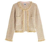 Jacke aus Tweed mit Wolle und Baumwolle