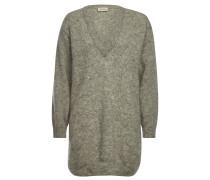 V-Pullover mit Baby-Alpakawolle und Wolle