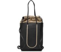 Handtasche aus Kalbsleder und Baumwolle
