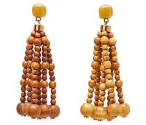 Ohrringe Les Perls Nour mit Holz