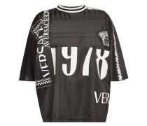 Bedrucktes T-Shirt mit Logo-Borten