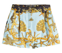 Bedruckte Shorts Tribute aus Seide