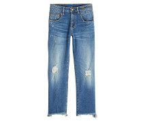 Distressed Straight Leg Jeans Boy