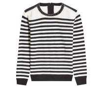 Gestreifter Pullover aus Wolle und Kaschmir